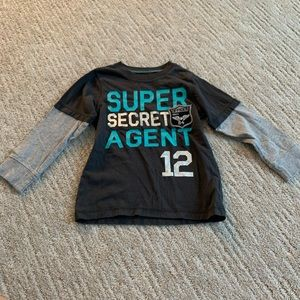 carter's super secret agent long sleeve tee size 3
